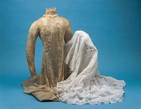 As Seen In The Complete Idiot S Guide To Perfect Wedding Antique Gown And Slip C 1900 Hand Embroidered Cotton Lace