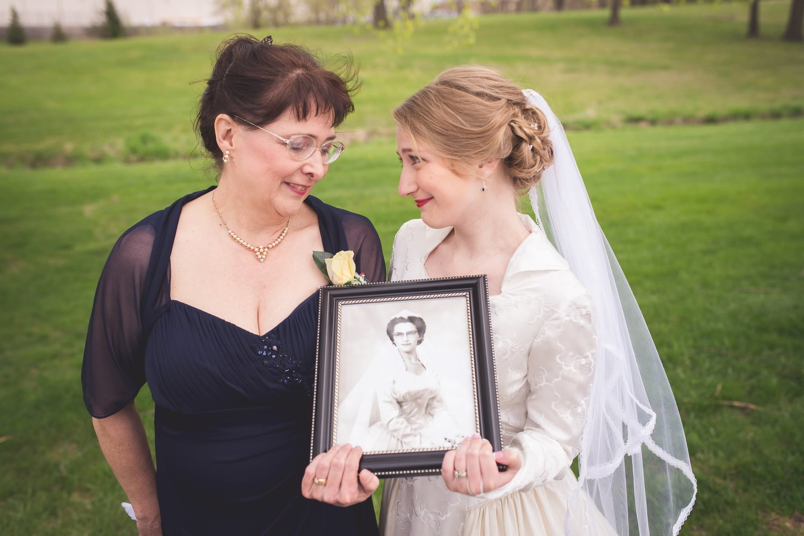 Katrina's Vintage Wedding Gown Care in Iowa