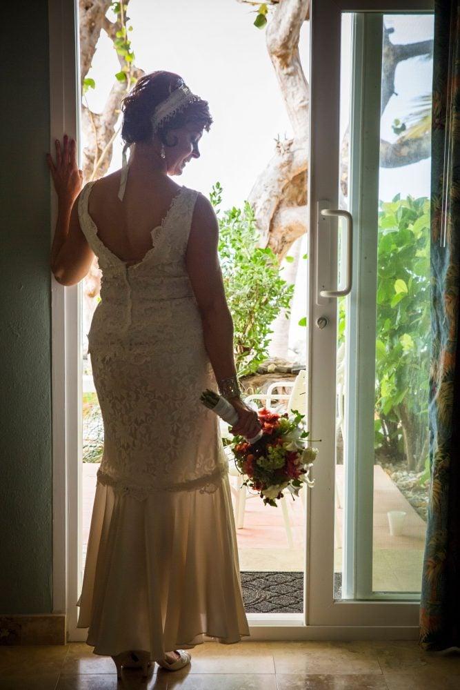Bride in St. Croix destination wedding