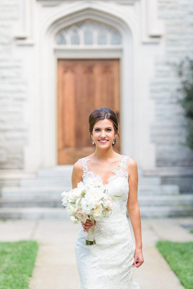 Bride in Augusta Jones wedding gown.