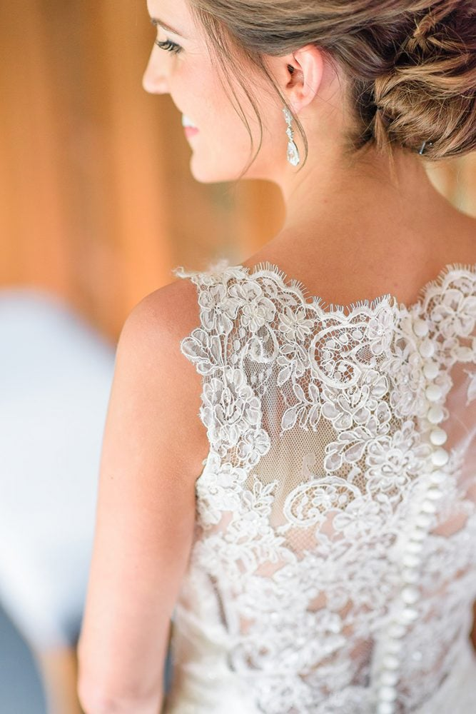Augusta Jones wedding gown back lace detail