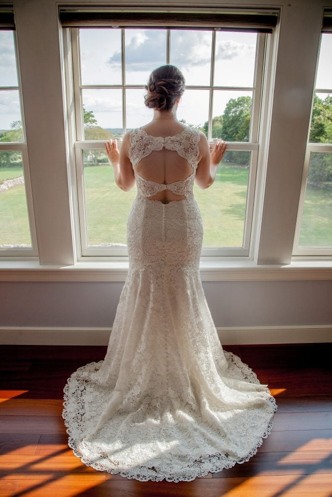 Real Bride Megan in her Maggie Sottero Rebecca Ingram Hope wedding dress.
