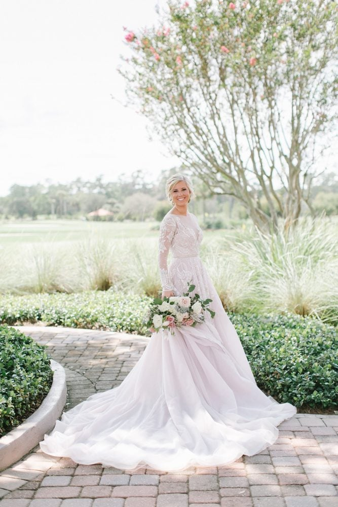 Bridal portrait in the classic Hayley Paige gown.