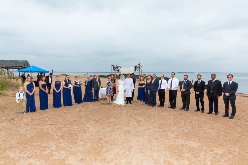 An Israeli wedding in Connecticut with a beautiful blue color scheme.