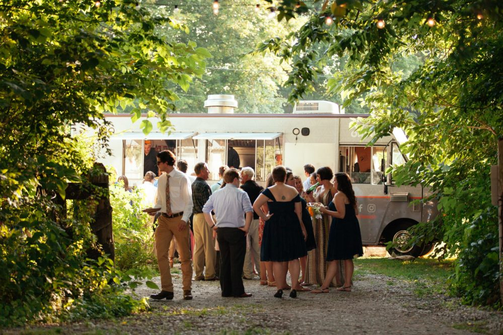 A shot of City Kitchen from real bride Shelby's wedding day in Columbia, TN.